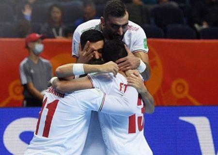 صعود تیم ملی فوتسال به مرحله حذفی جام جهانی
