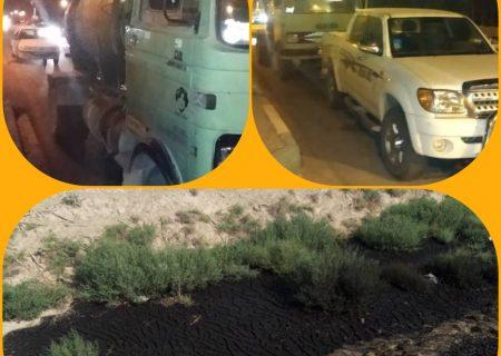 شناسایی یک واحد متخلف تخلیه کننده پسماند های صنعتی در طبیعت شهرستان اصفهان